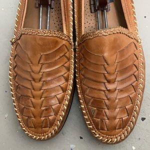 Men's Giorgio Brutini Le Glove tan leather loafers